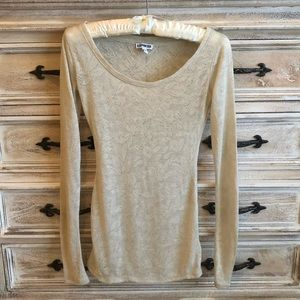Semi Sheer Long Sleeve Top XS